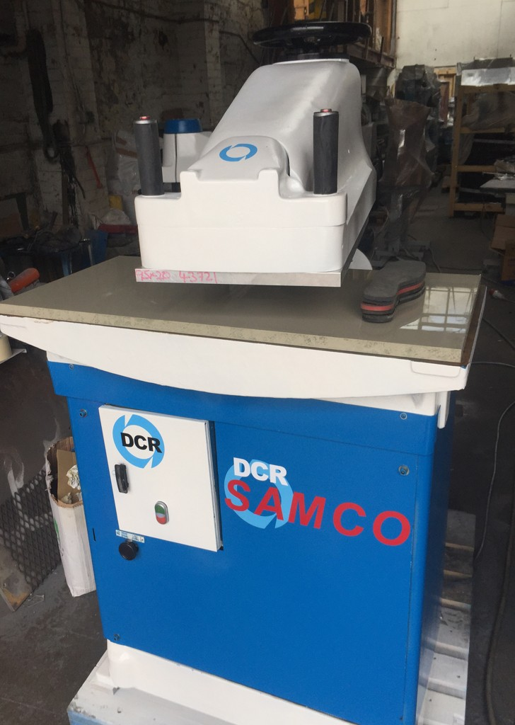 SAMCO 20 ton swing beam press